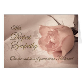 Sympathy card on the death of husband