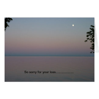 Sympathy Card, Pink sunset Greeting Card