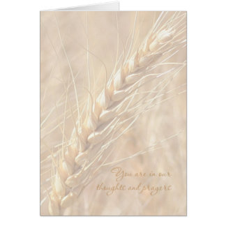 Sympathy Card / Wheat Sympathy Card