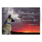 Sympathy Card with German Shepherd Matthew 5:8