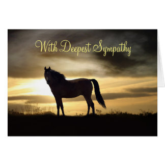 Sympathy Card with Horse and Sunrise Deepest