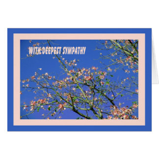 Sympathy Card with Tree Blossoms