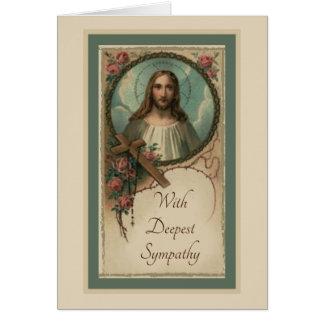 Sympathy Catholic Requiem Mass Offering Card