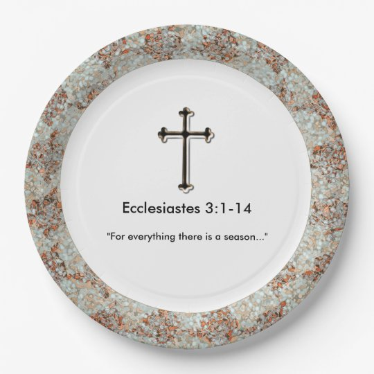 Sympathy-Christian_Template_Grief-Gathering_Unisex 9 Inch Paper Plate