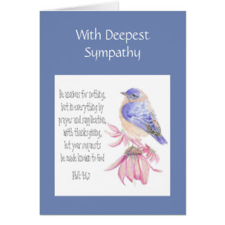 Sympathy Encouraging Scripture Cheerful Bluebird Card