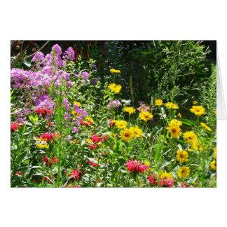 Sympathy flower garden card