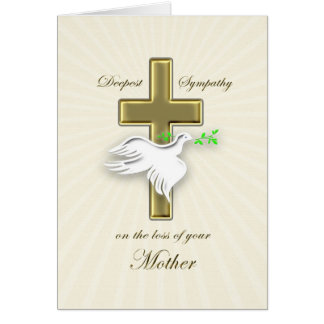 Sympathy for loss of mother card