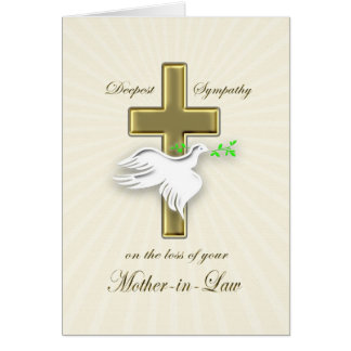 Sympathy for loss of mother-in-law greeting card