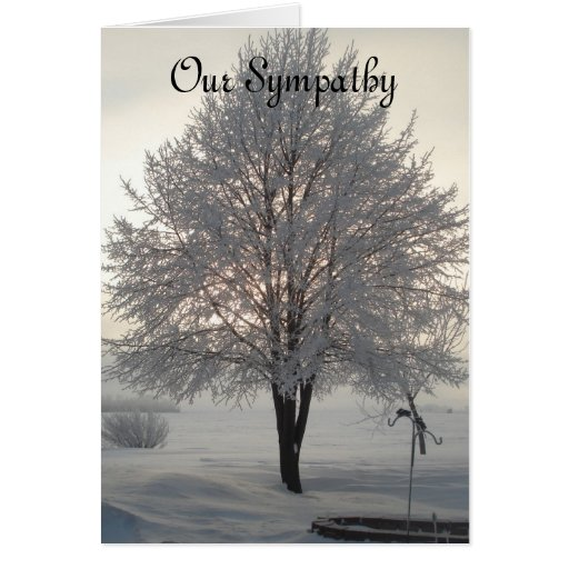 Sympathy Frosty tree series1 Greeting Cards