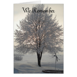 Sympathy Frosty tree series1 Greeting Card