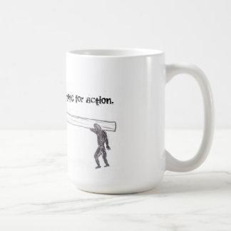 Sympathy is no substitute for action (mug). coffee mug
