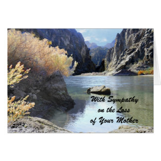 Sympathy Loss of Mother Beautiful Scenery Cards