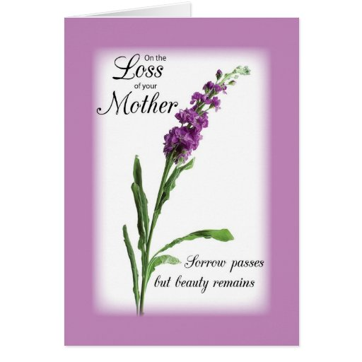 Sympathy Loss of Mother Purple, Religious Greeting Cards