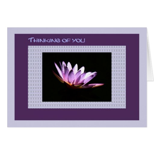 Sympathy, Loss of Mother, Water Lily Greeting Card