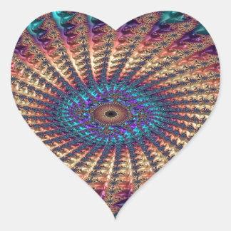 Sympathy of Faith Fractal Heart Sticker