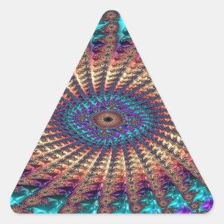 Sympathy of Faith Fractal Triangle Sticker