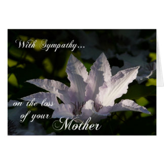 Sympathy on loss of Mother- Floral+Scripturure Card