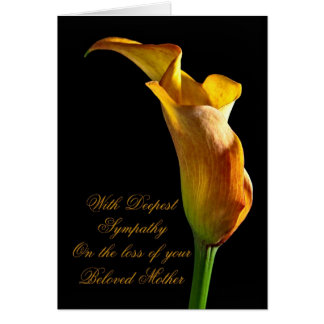 Sympathy on loss of mother greeting card