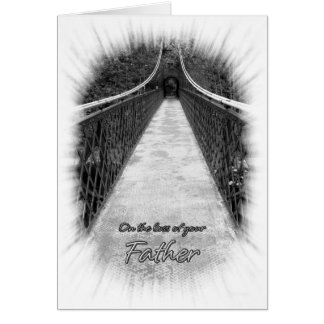 Sympathy on the Loss of Your Father Bridge Card