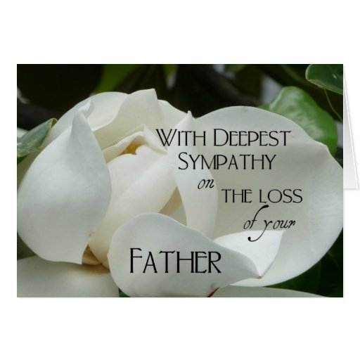 Loss of father sympathy quotes