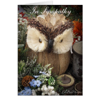 Sympathy Owl with spiritual verse Card