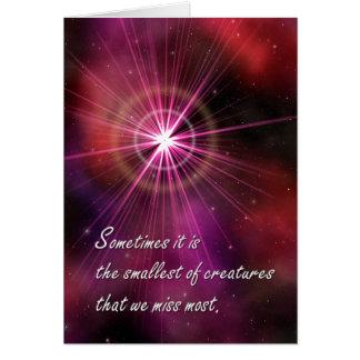 Sympathy: Red Nebula Card