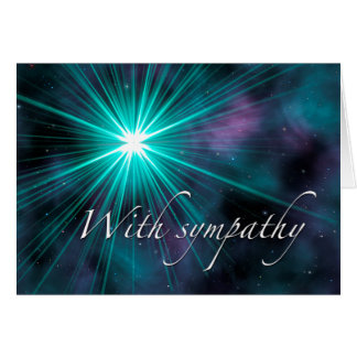 Sympathy: Teal Starburst Card