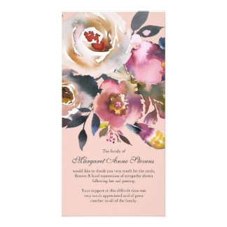 Sympathy Thank You Card | Dusty Pink Florals