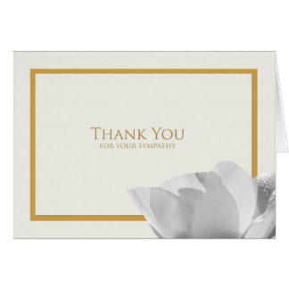 Sympathy Thank You Note Card -- Tulip