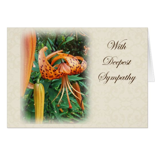 Sympathy - Turk's Cap Lily Wildflower Card