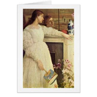 Symphonie dans le blanc par James Mcneill Whistler Carte De Vœux