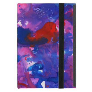 Symphony Abstract iPad Case in Red and Blue