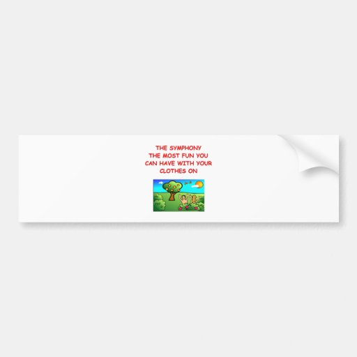 symphony bumper stickers