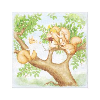 Symphony of Squirrels Canvas Print