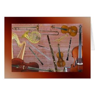 Symphony Orchestra Instruments Card