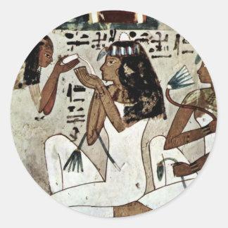 Symposium Detail By Maler Der Grabkammer Des Thot Classic Round Sticker
