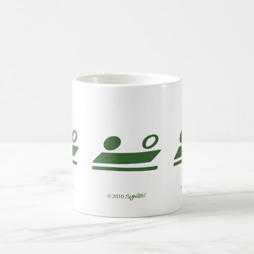 SymTell Green Self-Controlled Symbol Coffee Mugs