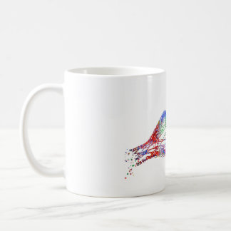 Synapse receptor, neurology, medical art coffee mug