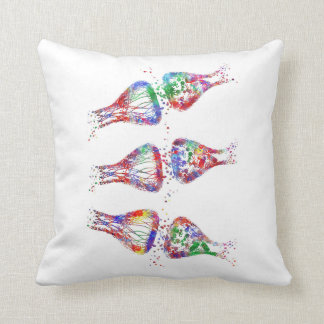 Synapse receptor, neurology, medical art throw pillow
