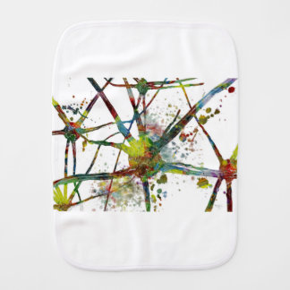 Synapses Medical Abstract Gift Burp Cloth