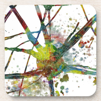 Synapses Medical Abstract Gift Coaster