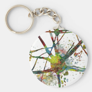 Synapses Medical Abstract Gift Keychain