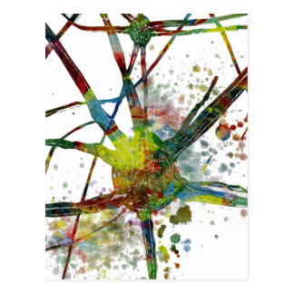 Synapses Medical Abstract Gift Postcard