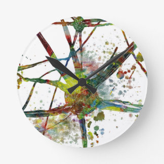 Synapses Medical Abstract Gift Round Clock