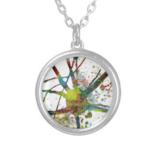 Synapses Medical Abstract Gift Silver Plated Necklace