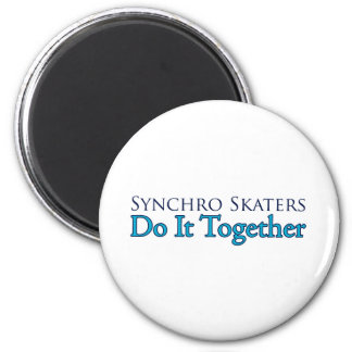 Synchro Skaters Do It Together Magnet
