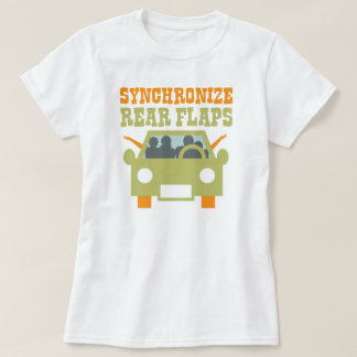 Synchronize Rear Flaps Funny Road Trip T-Shirt