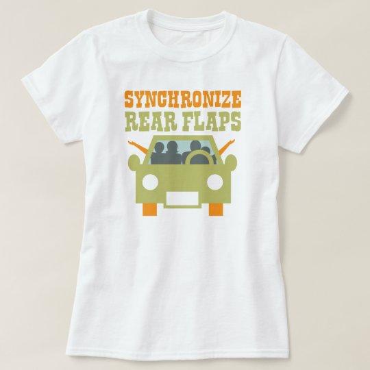 Synchronize Rear Flaps Funny Road Trip T-Shirt