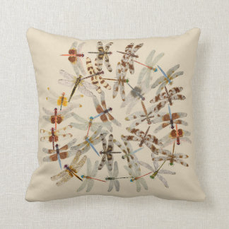 Synchronized Dragonflies Pillow