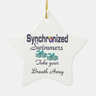 Synchronized swimmers ceramic ornament